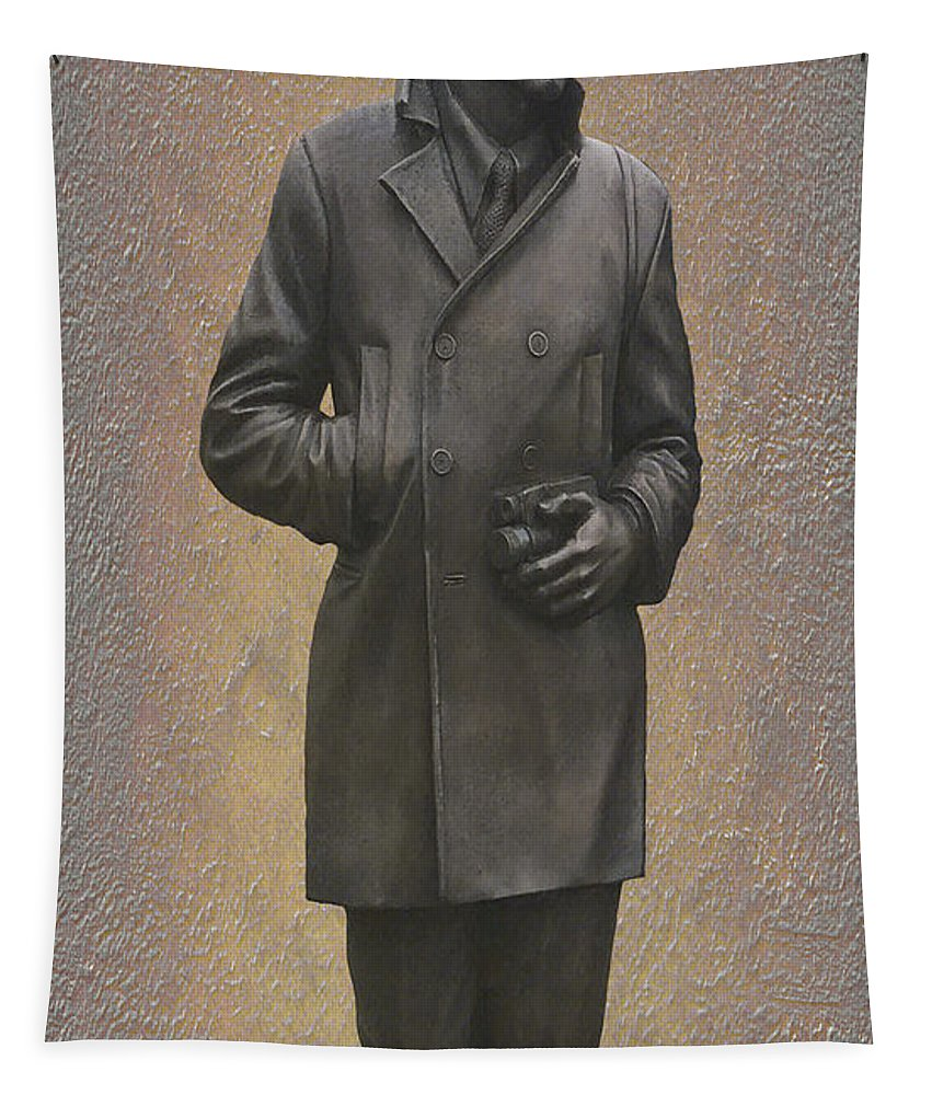 Paul Mccartney Tapestry featuring the mixed media Paul Mccartney N F by Movie Poster Prints