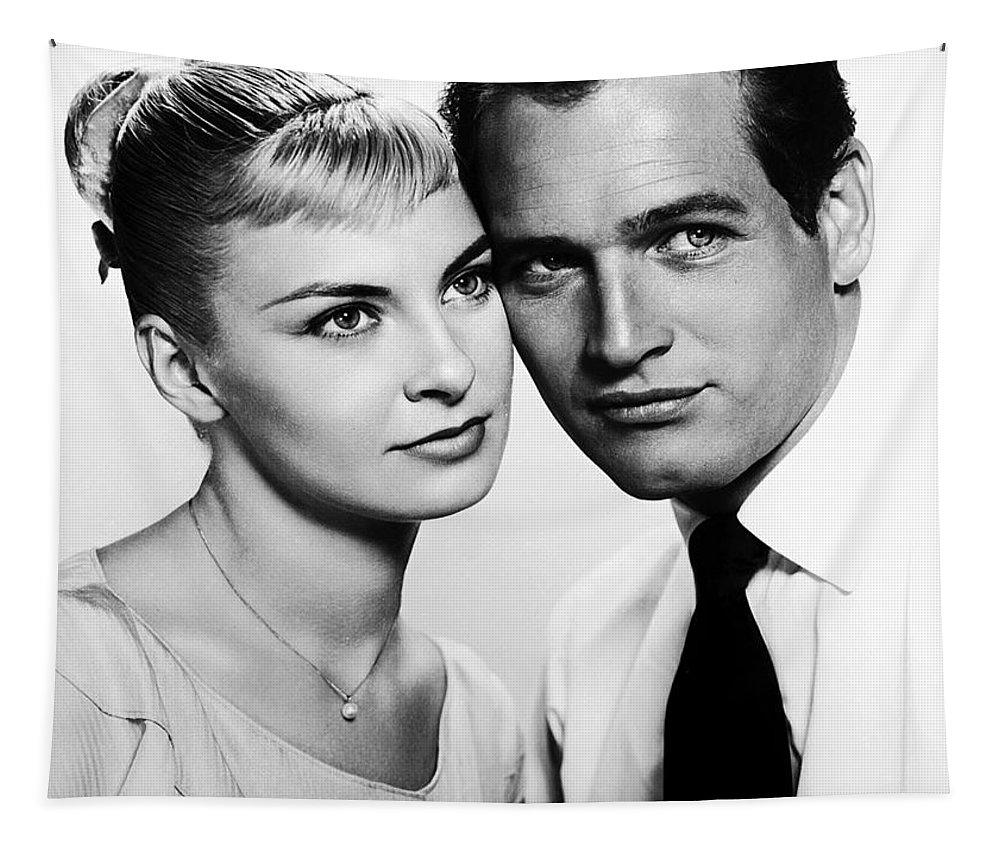 Publicity Photo Tapestry featuring the photograph Paul Newman And Joanne Woodward In The Long Hot Summer 1958 by Mountain Dreams