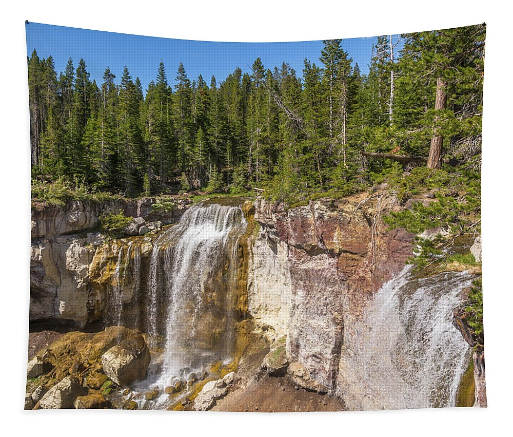 America Tapestry featuring the photograph Paulina Creek Falls From The Top by Marv Vandehey