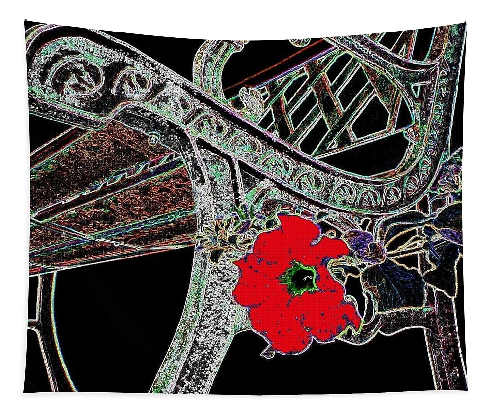 Bench Tapestry featuring the digital art Pause To Contemplate 1 by Will Borden