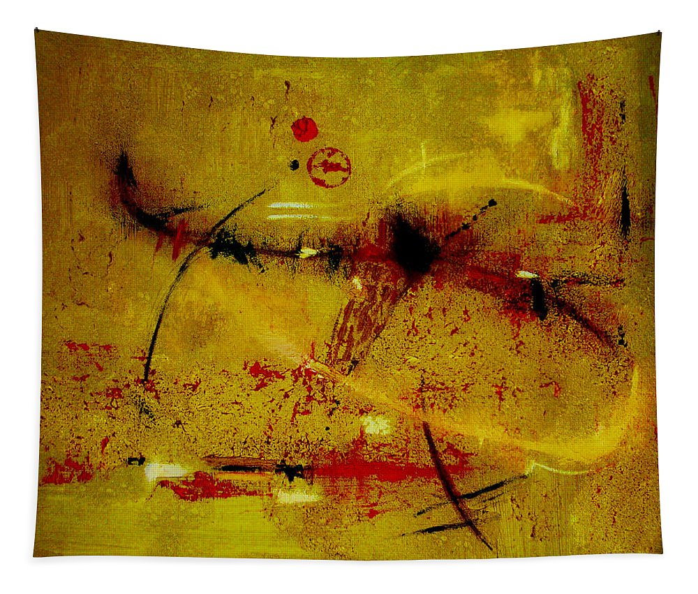 Abstract Tapestry featuring the painting Pay More Careful Attention by Ruth Palmer