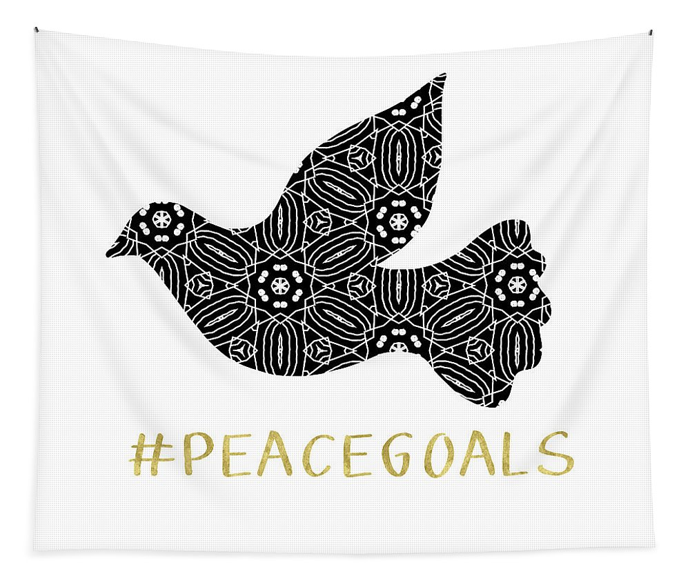 Peace Tapestry featuring the digital art Peace Goals- Art by Linda Woods by Linda Woods