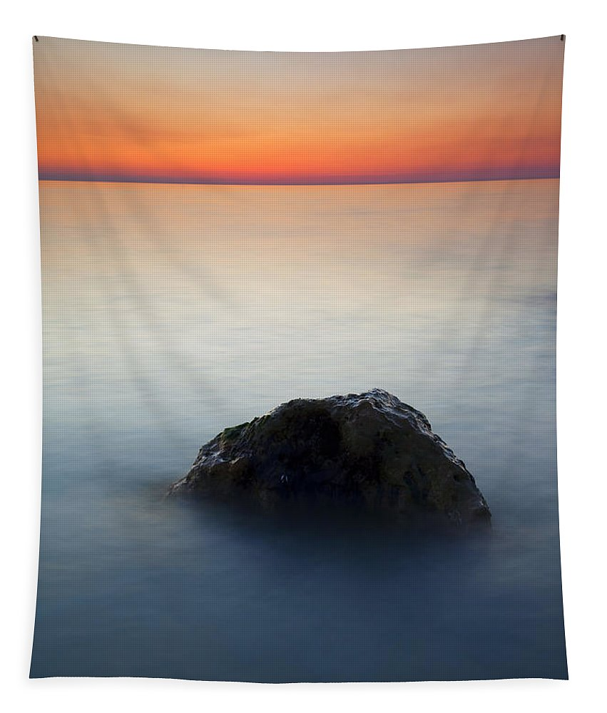 Rock Tapestry featuring the photograph Peaceful Isolation by Mike Dawson