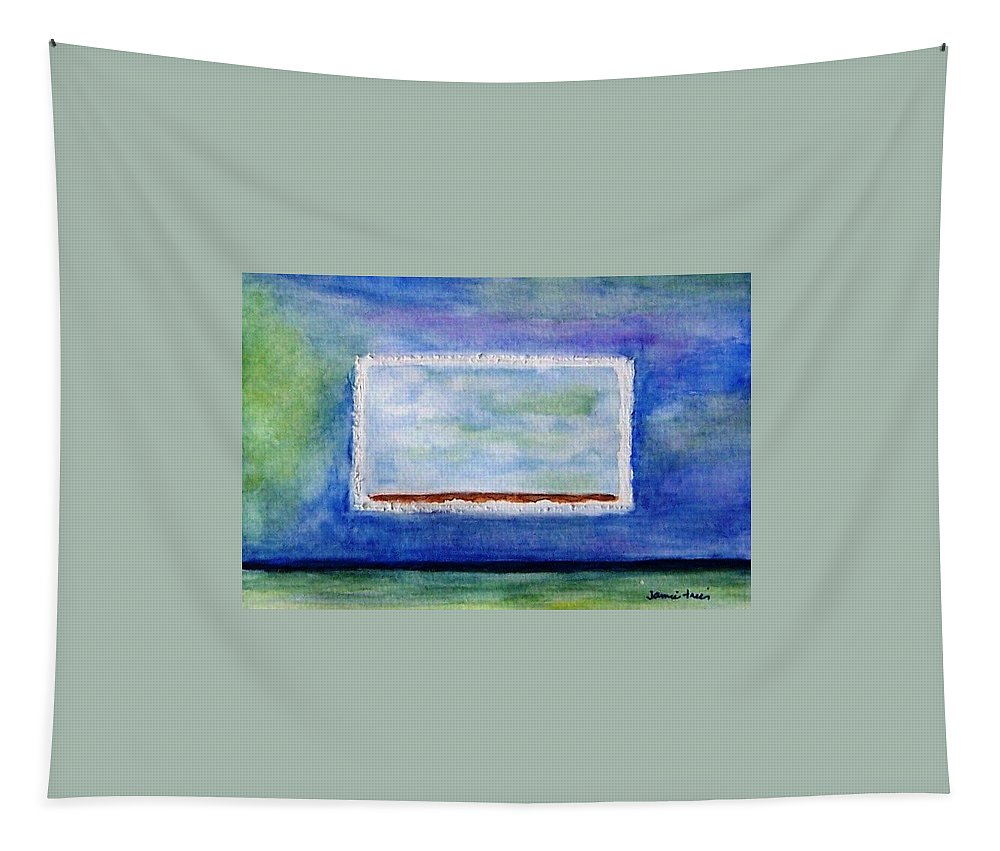 Blue Tapestry featuring the painting Peaceful by Jamie Frier