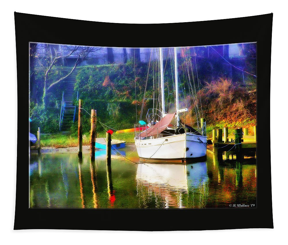 2d Tapestry featuring the photograph Peaceful Morning In The Cove by Brian Wallace