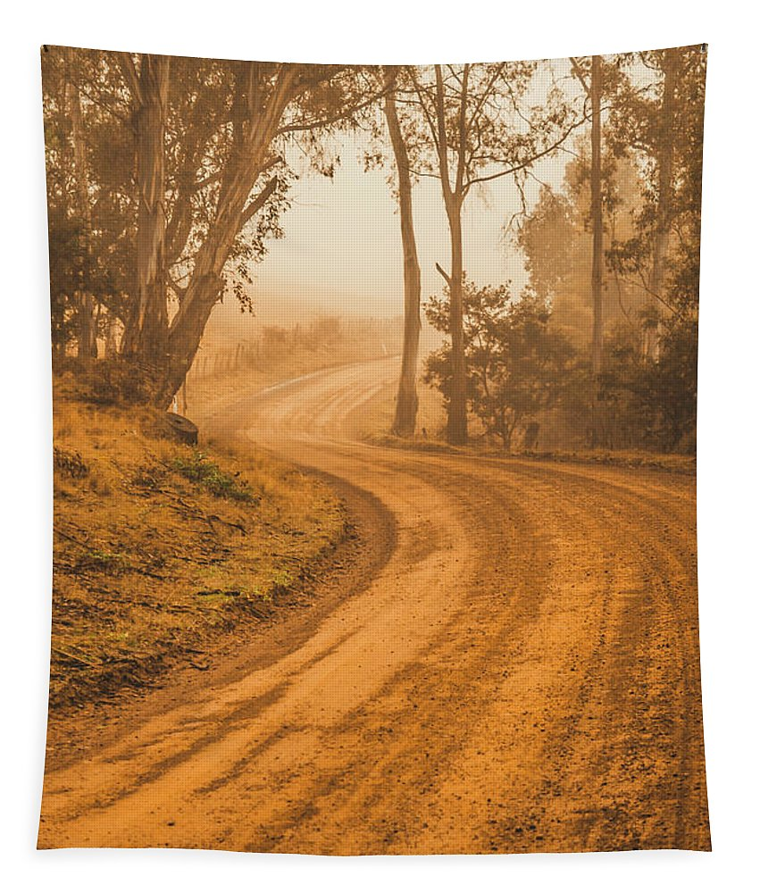 Autumn Tapestry featuring the photograph Peaceful Tasmania Country Road by Jorgo Photography - Wall Art Gallery