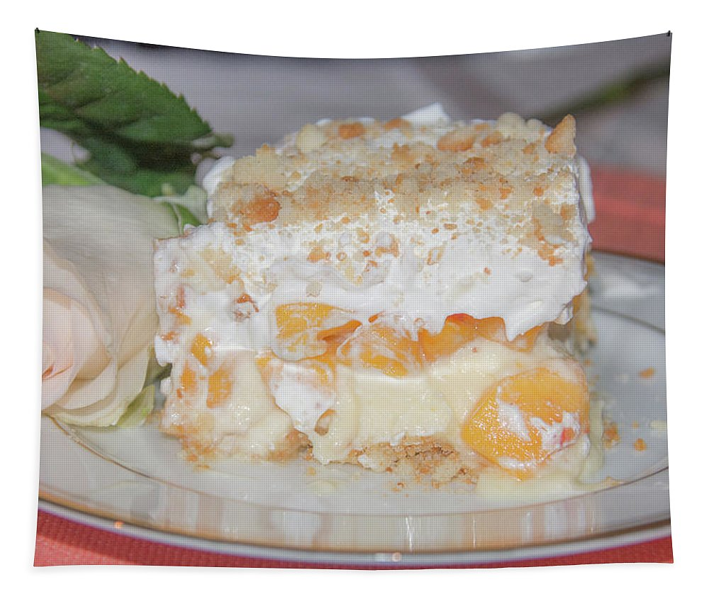 Peach Tapestry featuring the photograph Peach Dream Dessert by Pamela Williams