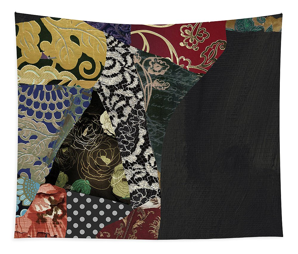 Pear Tapestry featuring the painting Pear Brocade I by Mindy Sommers
