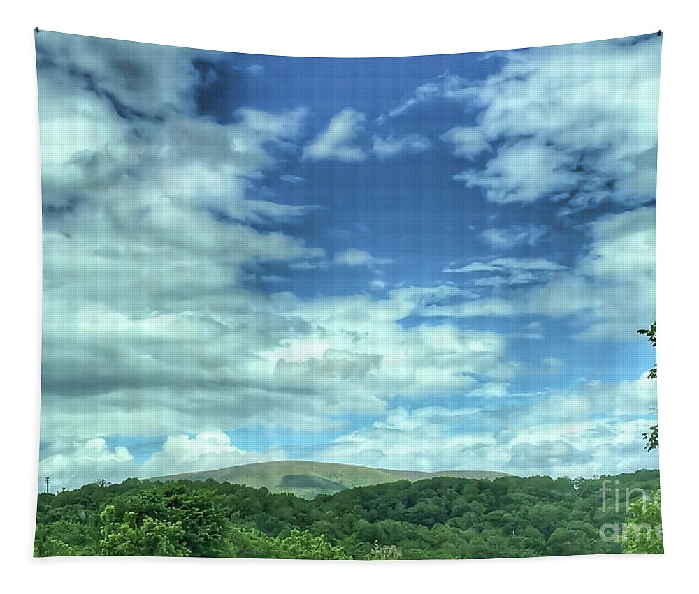 Sky Tapestry featuring the photograph Pearisburg Virginia View by Kerri Farley