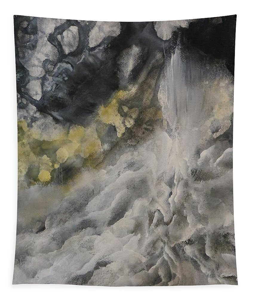 Abstract Tapestry featuring the painting Pearl by Soraya Silvestri