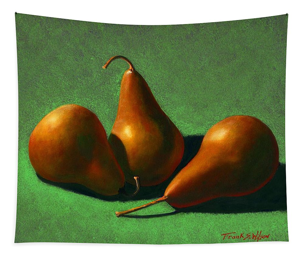 Still Life Tapestry featuring the painting Pears by Frank Wilson