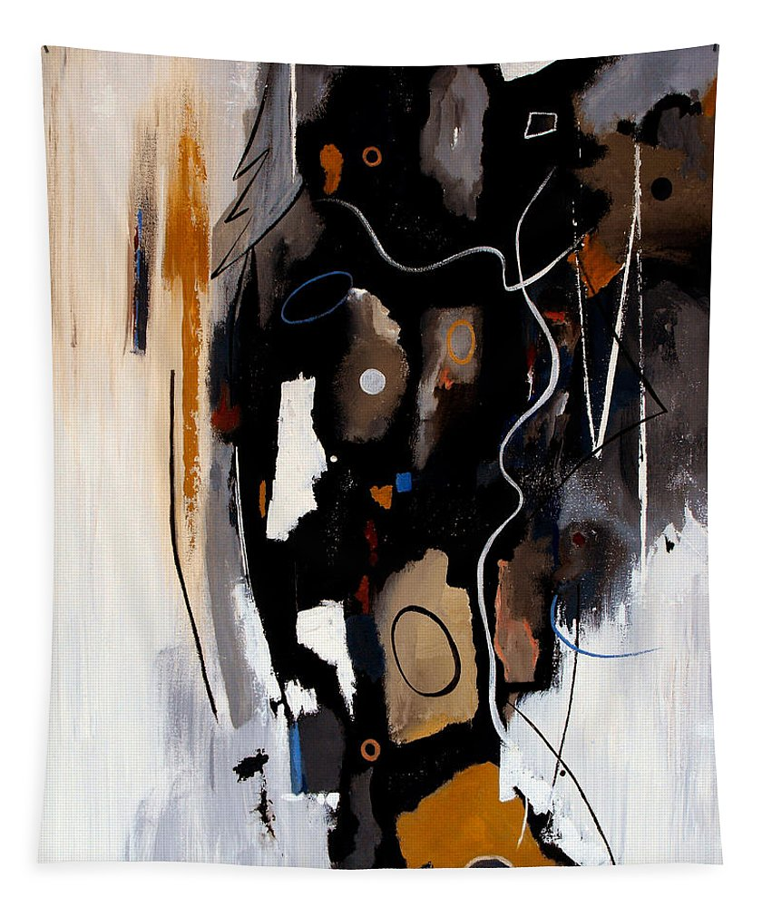 Abstract Tapestry featuring the painting Pebbles In The Stream by Ruth Palmer