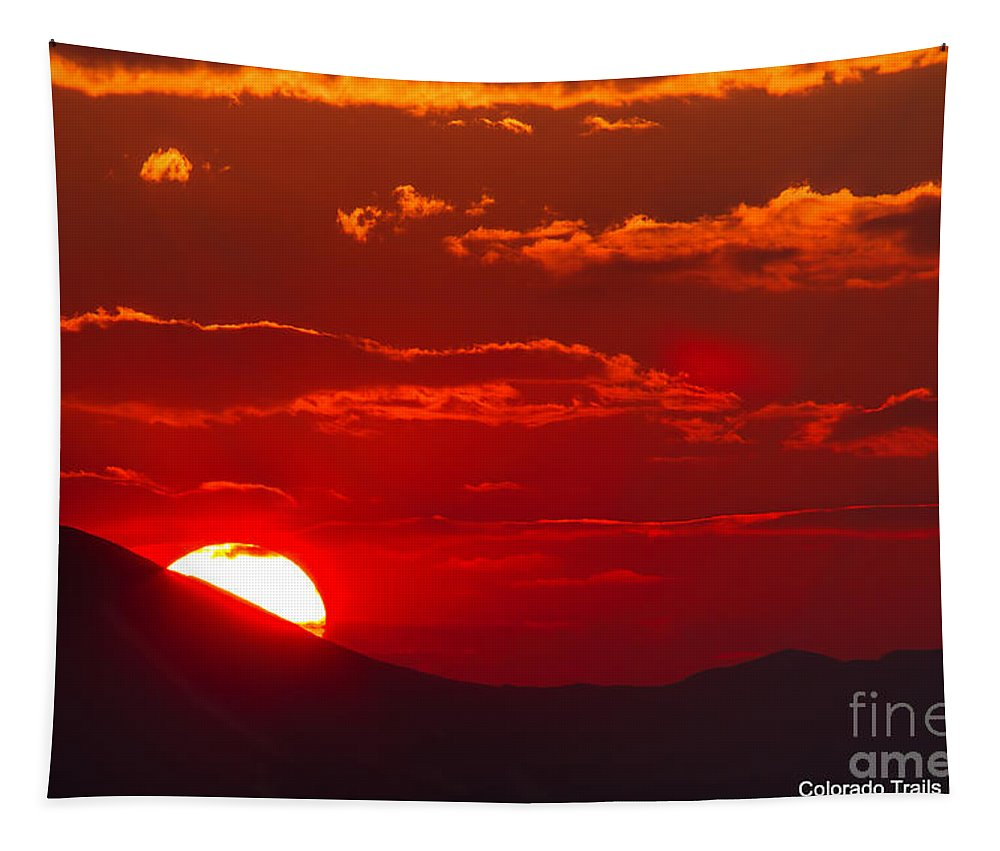 Fiery Landscape Tapestry featuring the photograph Peek-a-boo Sun by Jim Garrison