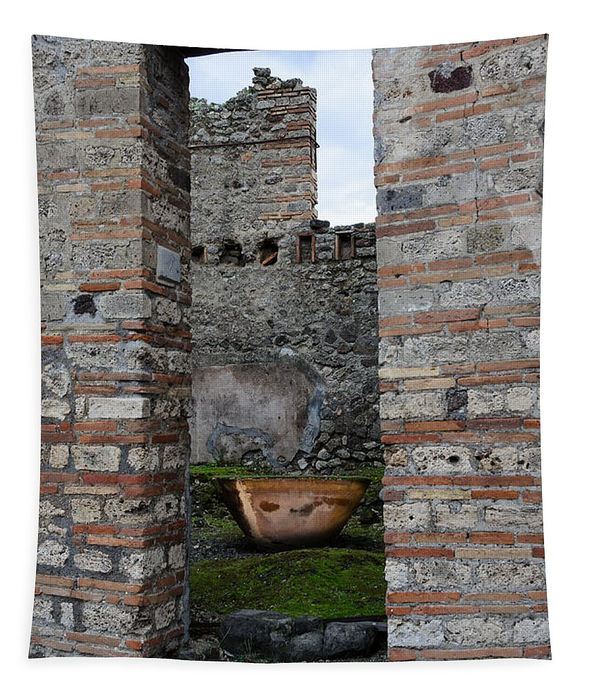Ancient Tapestry featuring the photograph Peek Into The Past - Pompeii by Debra Martz