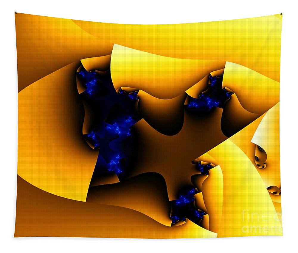 Fractal Art Tapestry featuring the digital art Peeling Away by Ron Bissett