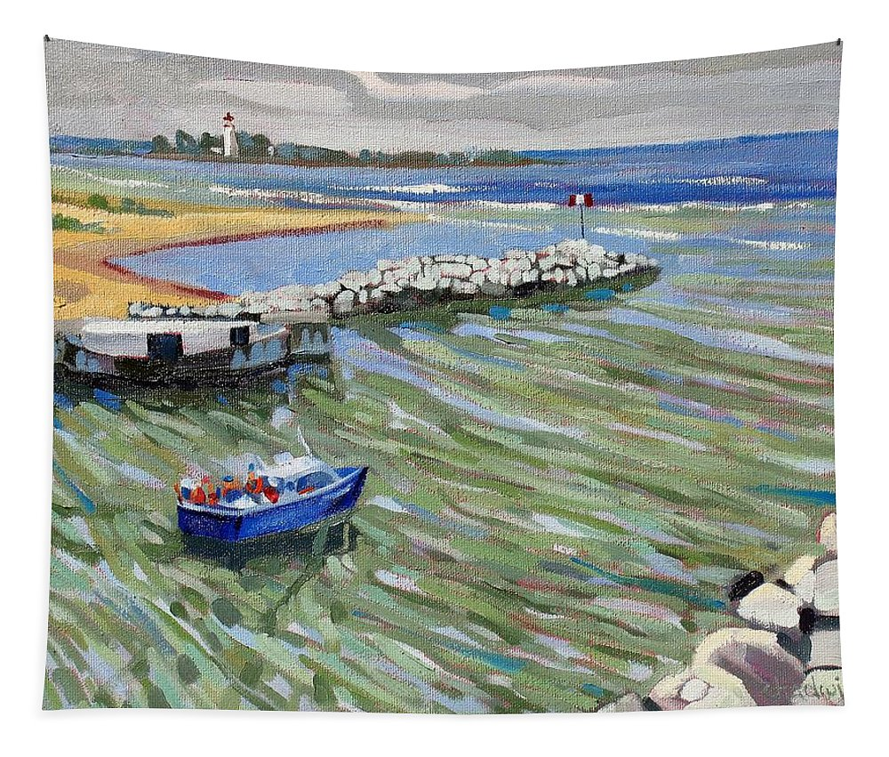 909 Tapestry featuring the painting Peerlessly Outbound by Phil Chadwick