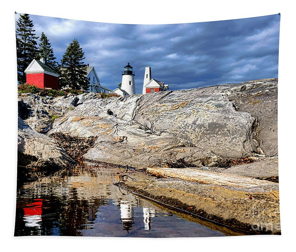 Pemaquid Tapestry featuring the photograph Pemaquid Reflection by Olivier Le Queinec