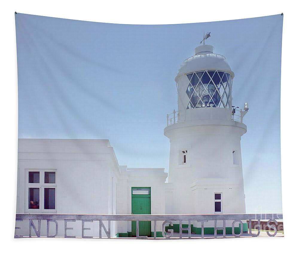 Pendeen Tapestry featuring the photograph Pendeen Lighthouse Cornwall by Terri Waters