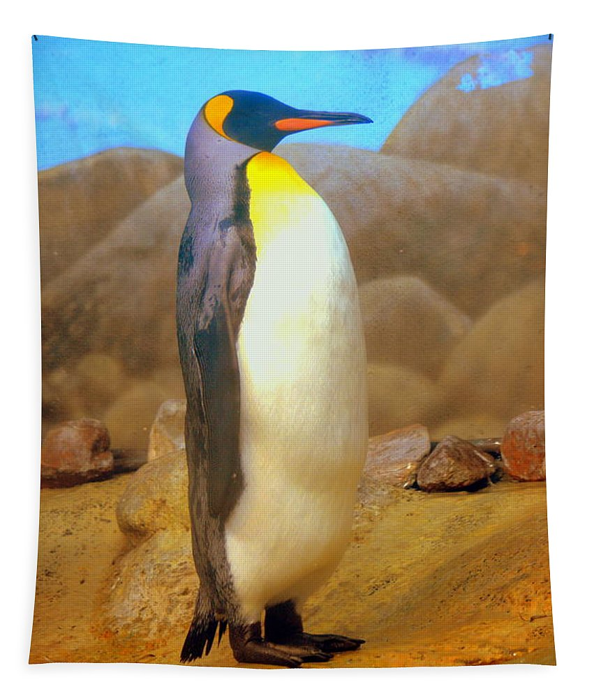 Penguin Tapestry featuring the photograph Penguin by Lisa Wooten