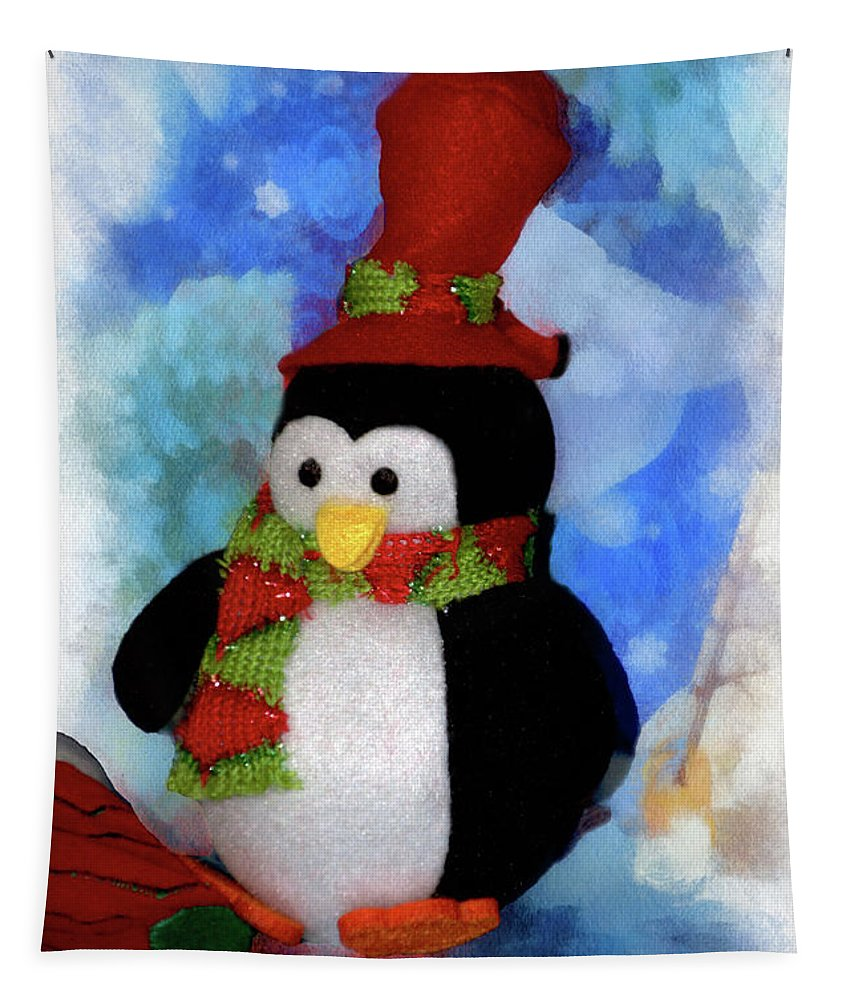 Penguin Tapestry featuring the photograph Penguin Pa 03 by Thomas Woolworth