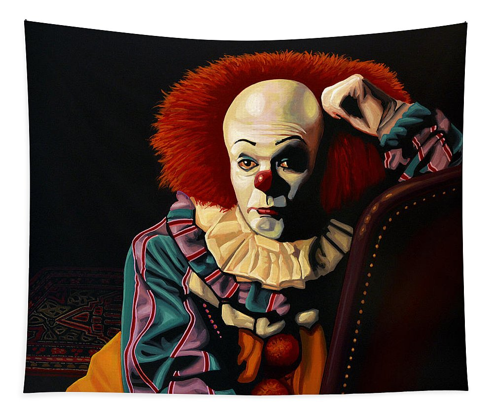 Pennywise Tapestry featuring the painting Pennywise by Paul Meijering