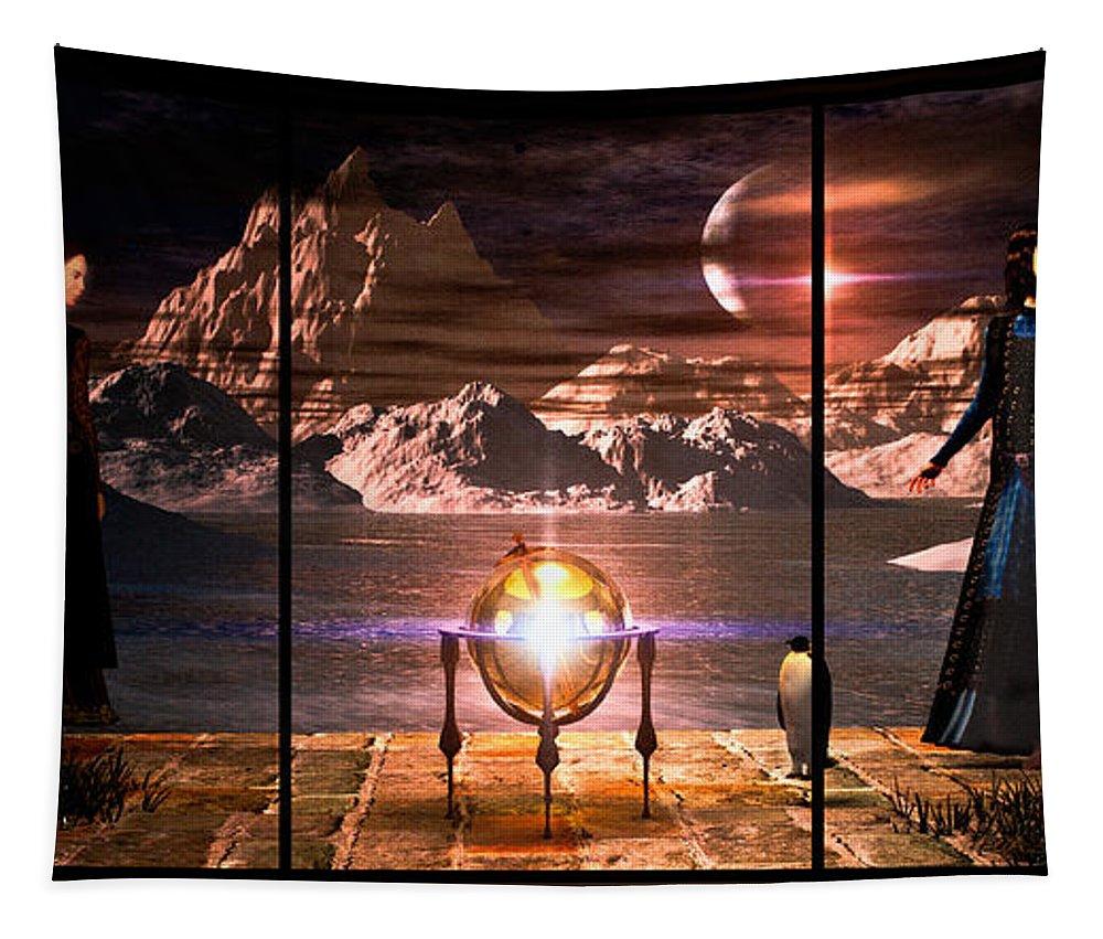 Dream Tapestry featuring the digital art Penquin Magic by Bob Orsillo