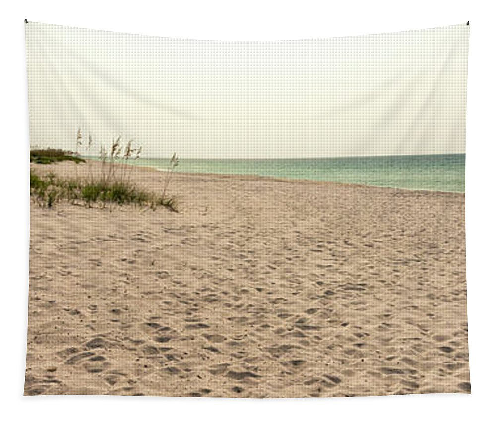 Pensacola Beach Florida Tapestry featuring the photograph Pensacola Beach 2 Panorama - Pensacola Florida by Brian Harig