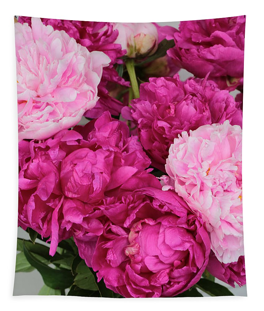Pink Peony Tapestry featuring the photograph Peony Bouquet by Carol Groenen
