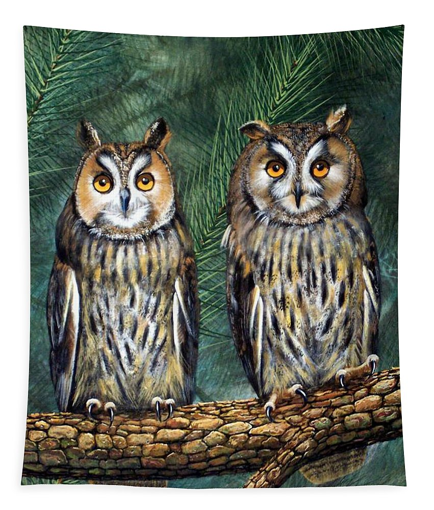 Wildlife Tapestry featuring the painting Perfect Strangers by Frank Wilson