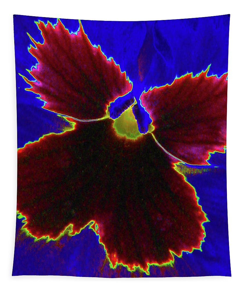 Pansy Tapestry featuring the photograph Perfectly Pansy 05 - Photopower by Pamela Critchlow