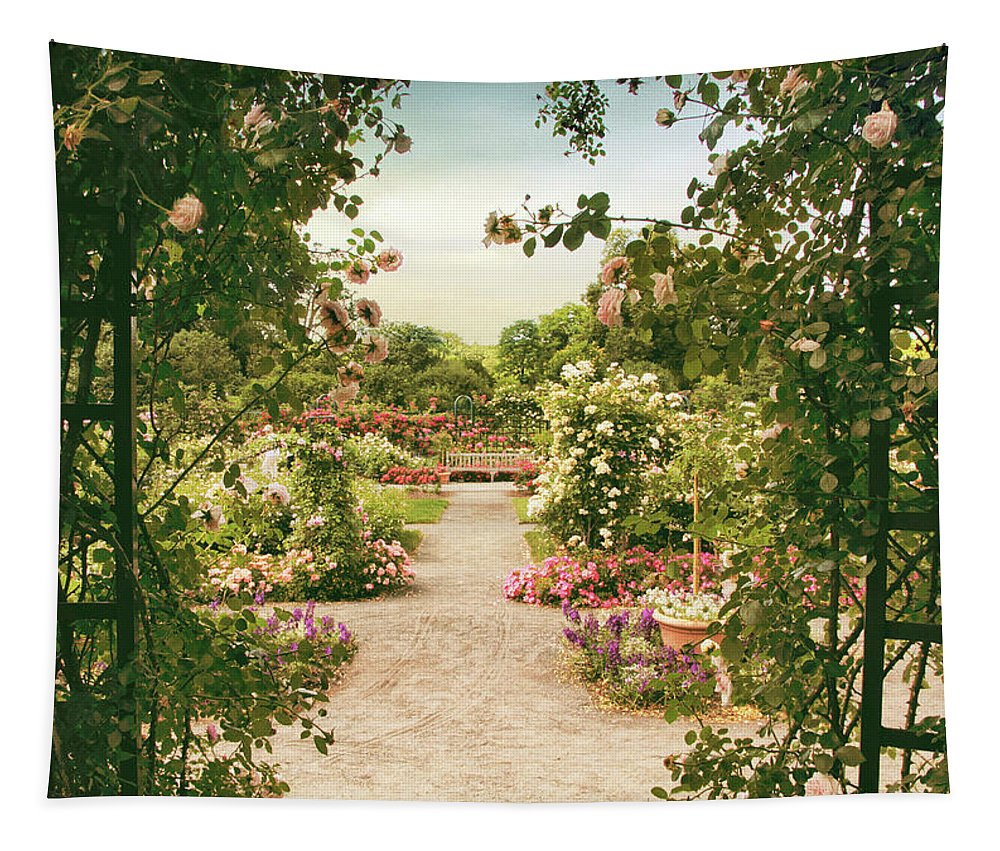 Roses Tapestry featuring the photograph Pergola View by Jessica Jenney