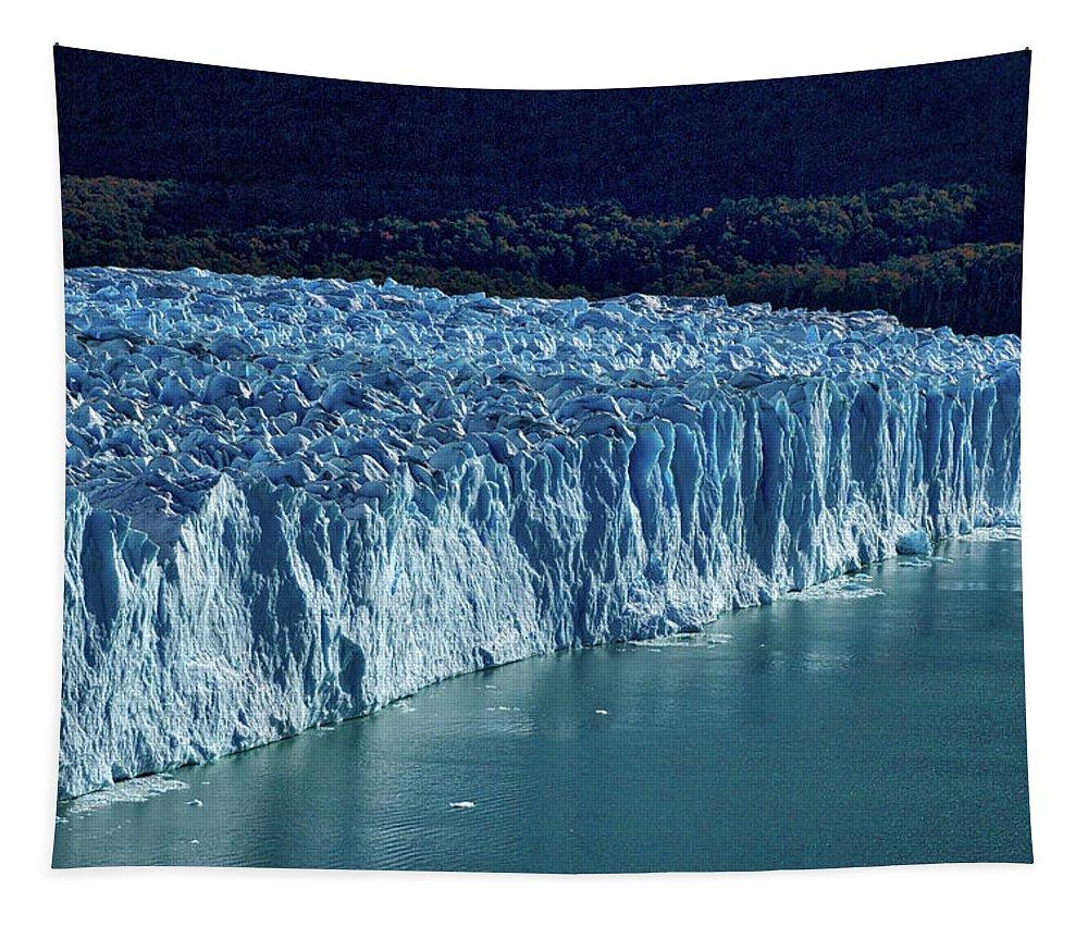 Argentina Tapestry featuring the photograph Perito Moreno Glacier #2 - Patagonia by Stuart Litoff