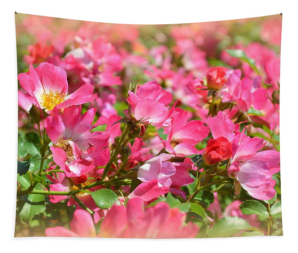 Roses Tapestry featuring the photograph Petal Softly by Linda Covino