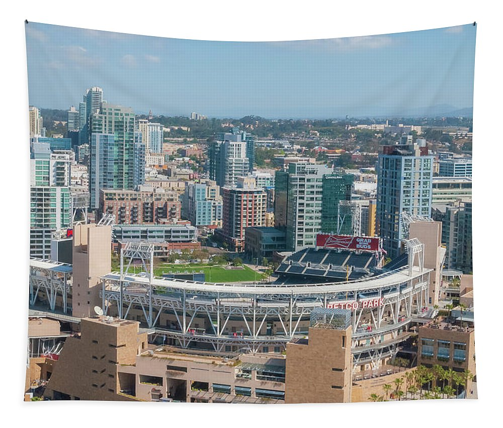 Petco Park Tapestry featuring the photograph Petco Park by Pamela Williams