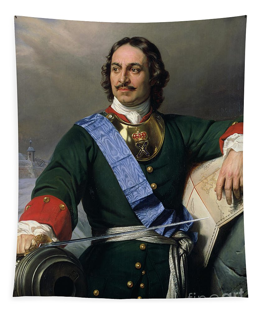 Peter I The Great Tapestry featuring the painting Peter I The Great by Delaroche