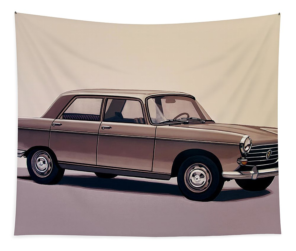 Peugeot 404 Tapestry featuring the painting Peugeot 404 1960 Painting by Paul Meijering