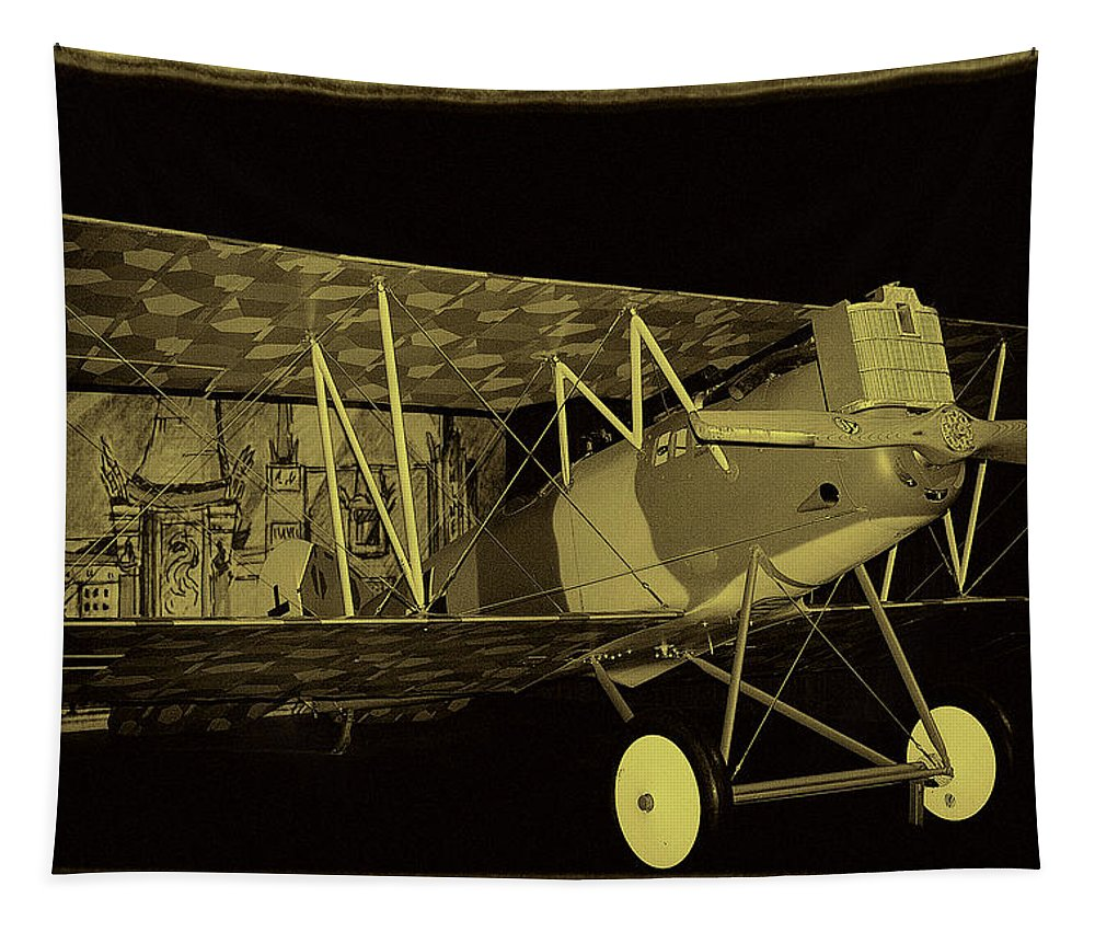 Pfalz Tapestry featuring the photograph Pfalz D.xii Fighter by David Patterson