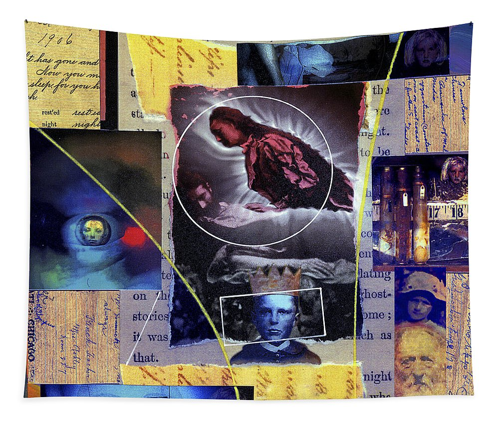Collage Tapestry featuring the painting Phantom by Dominic Piperata
