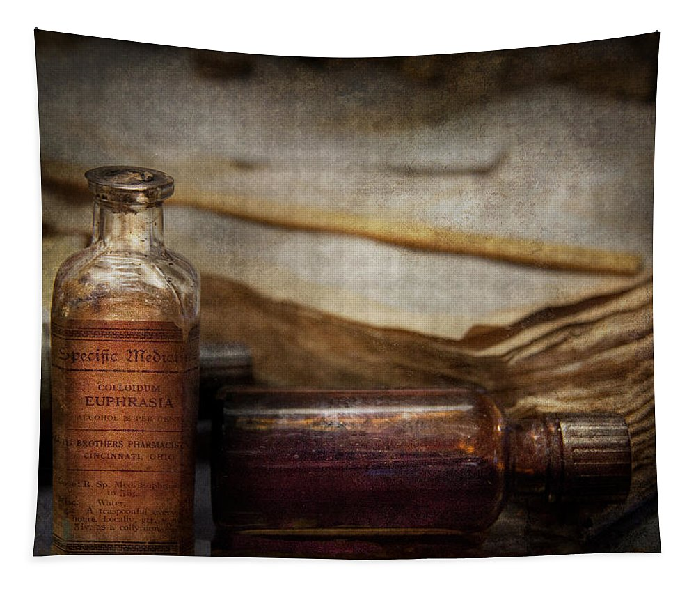 Hdr Tapestry featuring the photograph Pharmacist - Specific Medicines by Mike Savad