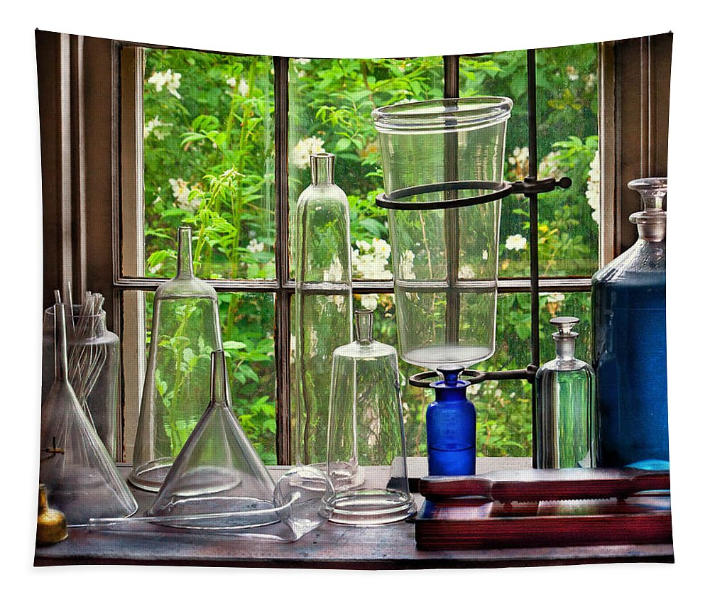 Pharmacy Tapestry featuring the photograph Pharmacy - Pharmaceuti-tools by Mike Savad