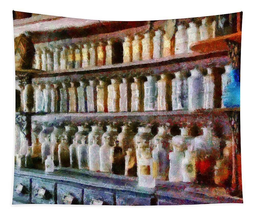 Savad Tapestry featuring the photograph Pharmacy - Pick And Elixir by Mike Savad
