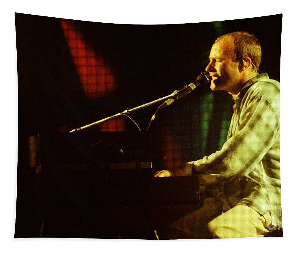 Phil Collins Tapestry featuring the photograph Phil Collins-0852 by Gary Gingrich Galleries