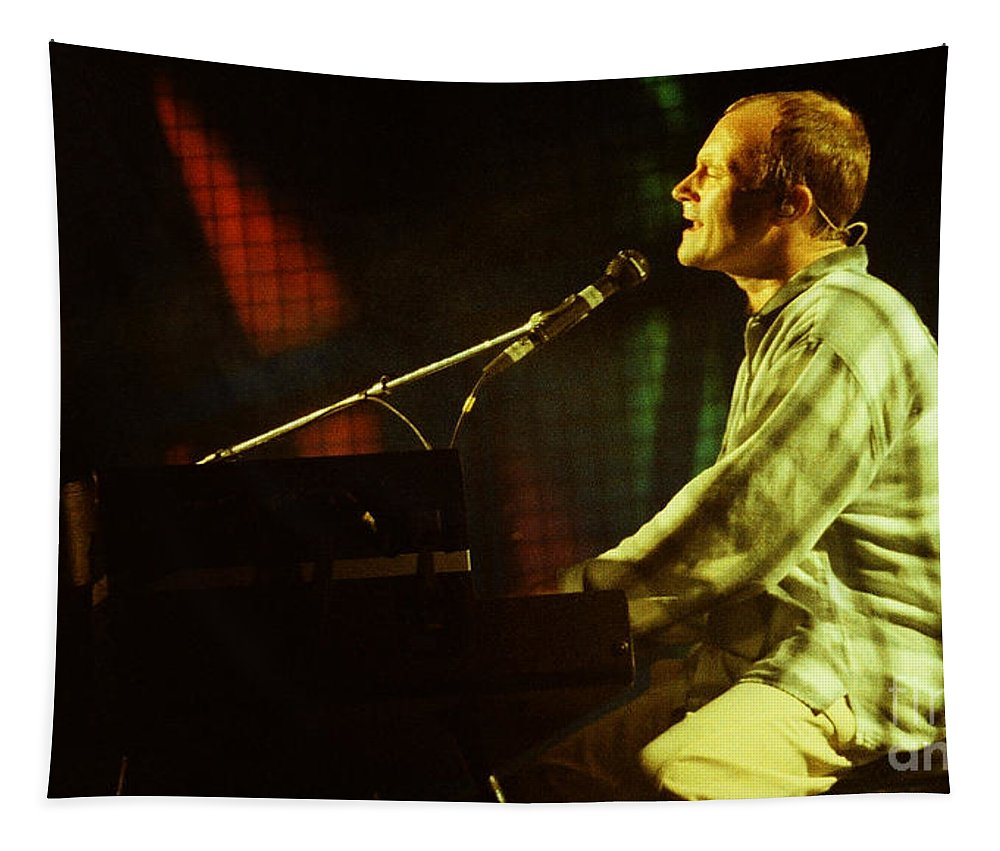 Phil Collins Tapestry featuring the photograph Phil Collins-0854 by Gary Gingrich Galleries