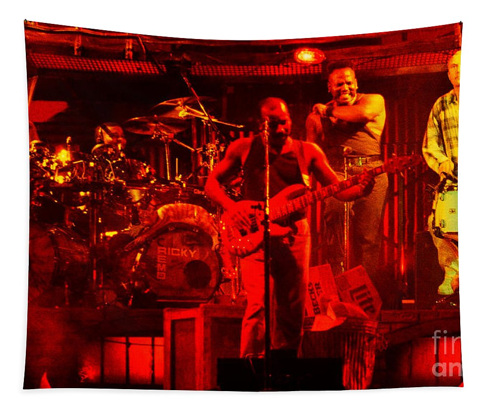 Phil Collins Tapestry featuring the photograph Phil Collins-0867 by Gary Gingrich Galleries