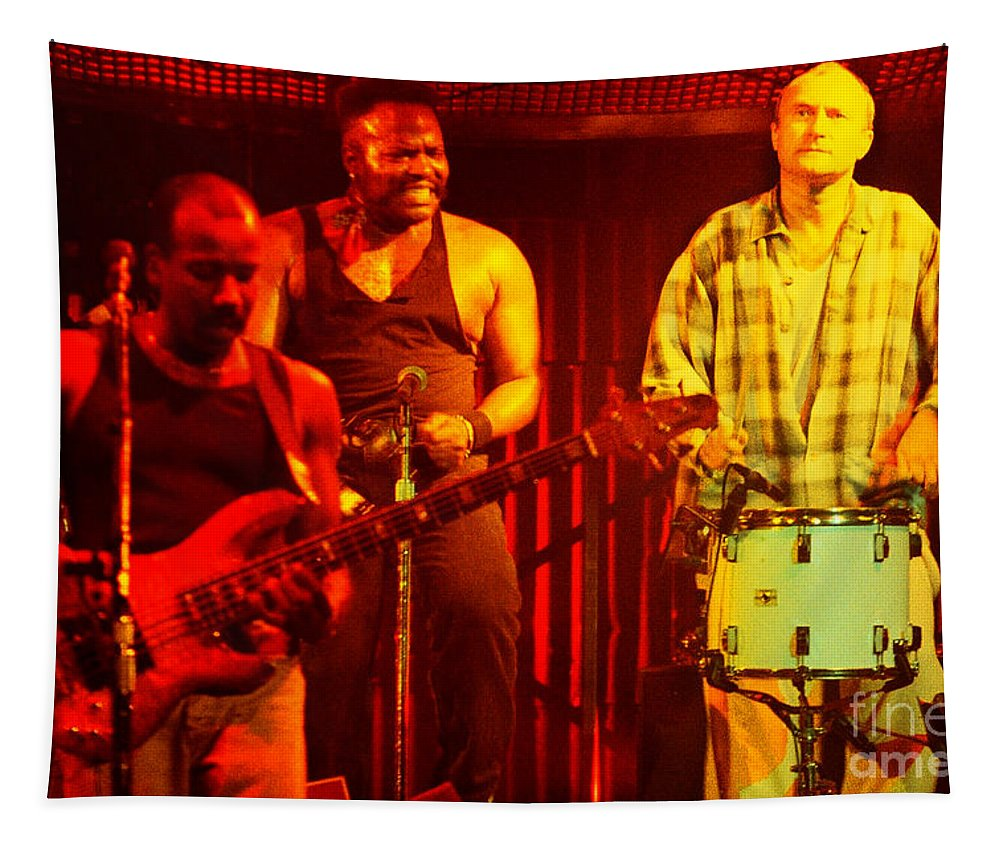 Phil Collins Tapestry featuring the photograph Phil Collins-0891 by Gary Gingrich Galleries