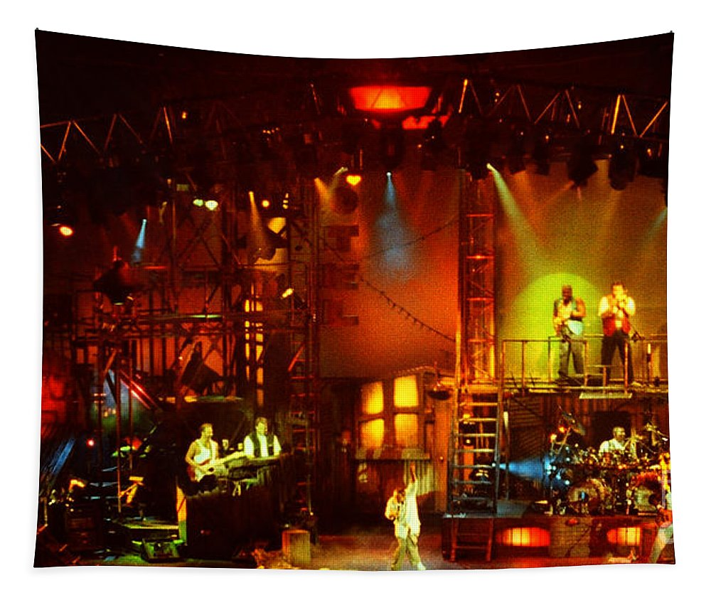 Phil Collins Tapestry featuring the photograph Phil Collins-0896 by Gary Gingrich Galleries