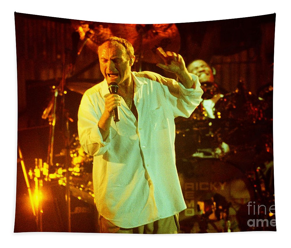 Phil Collins Tapestry featuring the photograph Phil Collins-0903 by Gary Gingrich Galleries