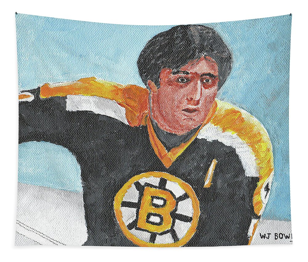 Phil Tapestry featuring the painting Phil Esposito by William Bowers