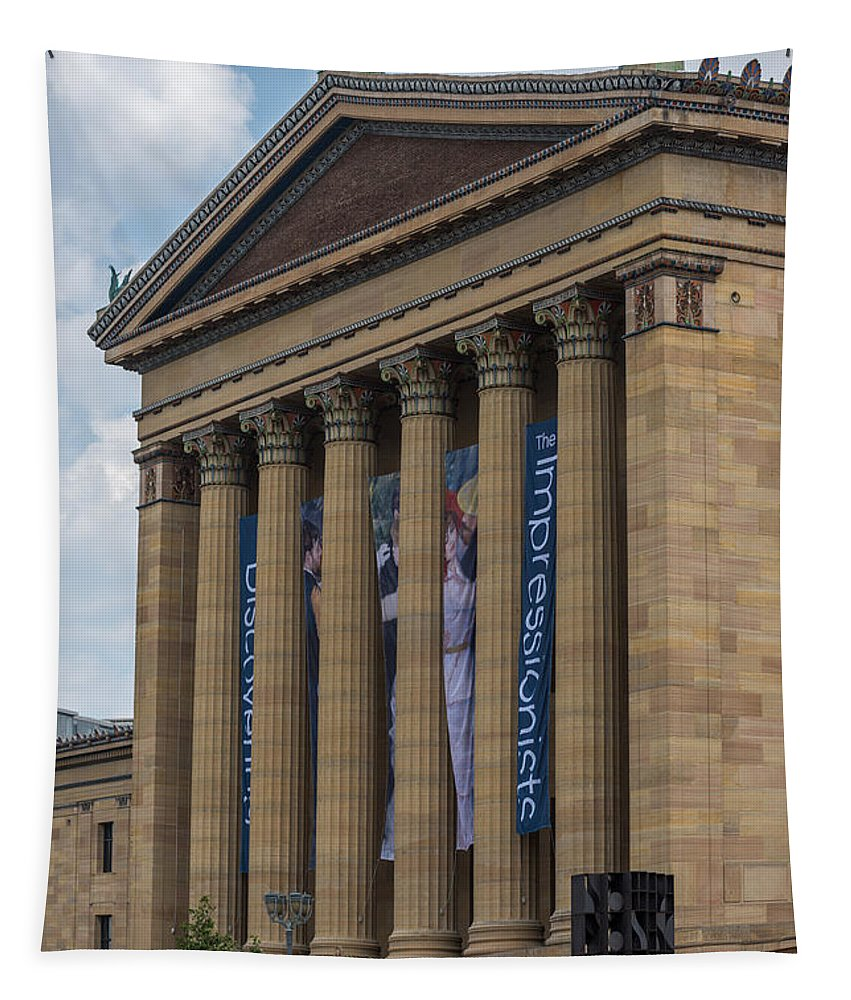 Terry D Photography Tapestry featuring the photograph Philadelphia Museum Of Art by Terry DeLuco