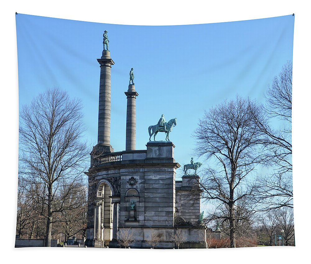 Smith Tapestry featuring the photograph Philadelphia - The Smith Memorial Arch by Bill Cannon